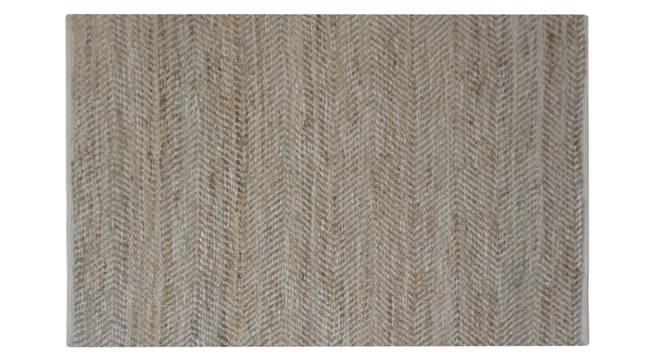 "Naia Dhurrie (Brown, 122 x 183 cm  (48"" x 72"") Carpet Size) by Urban Ladder - Design 1 Side View - 318237"