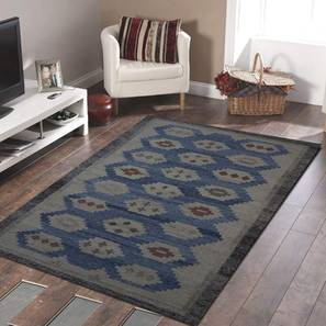 "Paige Dhurrie (Blue, 122 x 183 cm  (48"" x 72"") Carpet Size) by Urban Ladder - Design 1 - 318239"