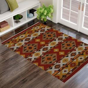 "Romonus Dhurrie (122 x 183 cm  (48"" x 72"") Carpet Size) by Urban Ladder - Design 1 - 318267"
