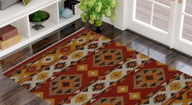 "Romonus Dhurrie (122 x 183 cm  (48"" x 72"") Carpet Size) by Urban Ladder - Front View Design 1 - 318268"