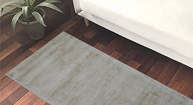 "Varren Carpet (Ivory, 76 x 152 cm  (30"" x 60"") Carpet Size, Hand Tufted Carpet Type) by Urban Ladder - Design 1 Side View - 318273"