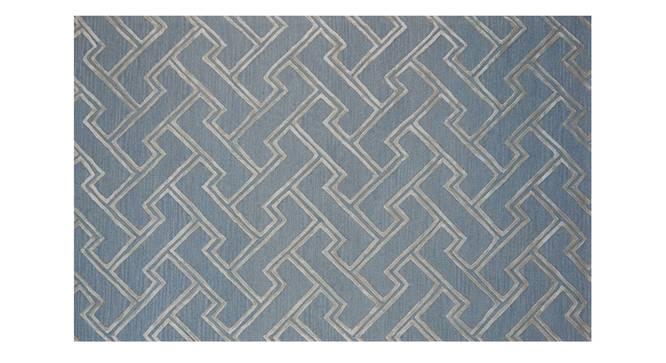 "Sulivan Carpet (152 x 244 cm  (60"" x 96"") Carpet Size, Light Blue, Hand Tufted Carpet Type) by Urban Ladder - Design 1 Side View - 318289"