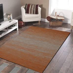 """Zuri Dhurrie (Orange, 122 x 183 cm  (48"""" x 72"""") Carpet Size) by Urban Ladder - Design 1 - 318295"""