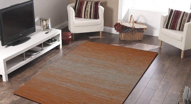 """Zuri Dhurrie (Orange, 122 x 183 cm  (48"""" x 72"""") Carpet Size) by Urban Ladder - Front View Design 1 - 318296"""