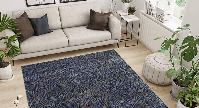 "Victoria Carpet (152 x 244 cm  (60"" x 96"") Carpet Size, Dark Blue, Hand Tufted Carpet Type) by Urban Ladder - Front View Design 1 - 318312"