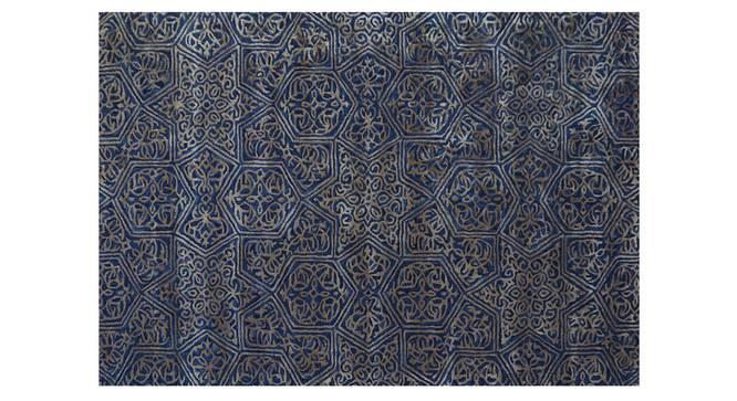 "Victoria Carpet (152 x 244 cm  (60"" x 96"") Carpet Size, Dark Blue, Hand Tufted Carpet Type) by Urban Ladder - Design 1 Side View - 318313"