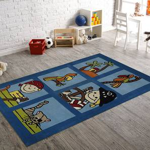 """Counting Numbers Kids Carpet (122 x 183 cm  (48"""" x 72"""") Carpet Size, Hand Tufted Carpet Type) by Urban Ladder - Design 1 - 318339"""