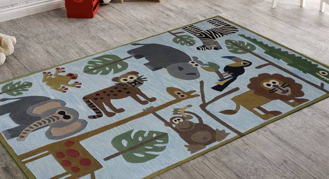 "Angry Bird Kids Carpet (183 x 122 cm  (72"" x 48"") Carpet Size, Hand Tufted Carpet Type) by Urban Ladder - Front View Design 1 - 318344"
