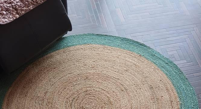 "Hermet Dhurrie (120 x 120 cm (48"" x 48"") Carpet Size) by Urban Ladder - Front View Design 1 - 318356"
