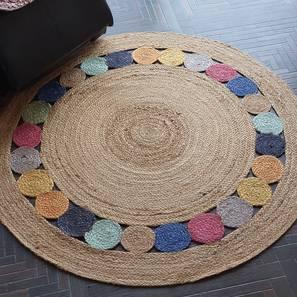"Karkis Dhurrie (120 x 120 cm (48"" x 48"") Carpet Size) by Urban Ladder - Design 1 - 318375"