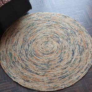 """Larmis Dhurrie (120 x 120 cm (48"""" x 48"""") Carpet Size) by Urban Ladder - Design 1 - 318379"""