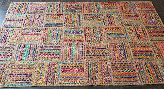 "Menton Dhurrie (152 x 244 cm  (60"" x 96"") Carpet Size) by Urban Ladder - Design 1 Side View - 318397"