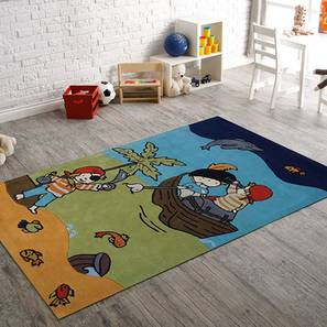 "Parachute  Kids Carpet (122 x 183 cm  (48"" x 72"") Carpet Size, Hand Tufted Carpet Type) by Urban Ladder - Design 1 - 318407"