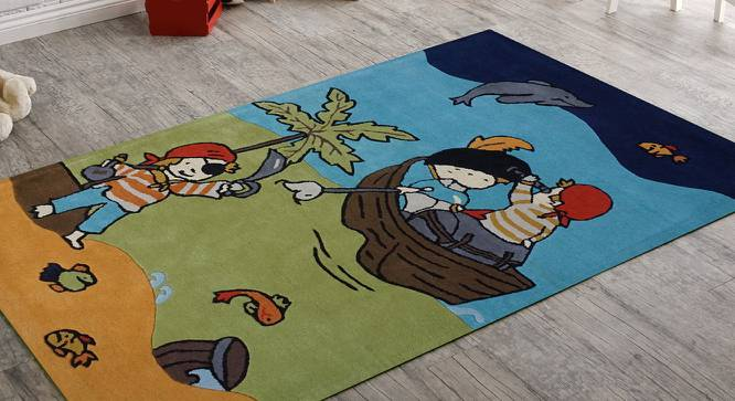 "Parachute  Kids Carpet (122 x 183 cm  (48"" x 72"") Carpet Size, Hand Tufted Carpet Type) by Urban Ladder - Front View Design 1 - 318408"