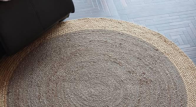 "Potunia Dhurrie (120 x 120 cm (48"" x 48"") Carpet Size) by Urban Ladder - Front View Design 1 - 318424"