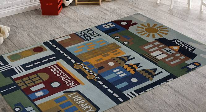 """Sweet Butterfly Kids Carpet (122 x 183 cm  (48"""" x 72"""") Carpet Size, Hand Tufted Carpet Type) by Urban Ladder - Front View Design 1 - 318428"""