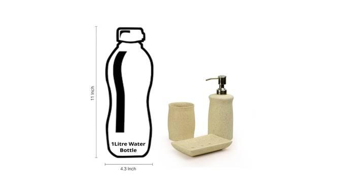 Aeryn Bathroom Accessory Set of 3 (Off White) by Urban Ladder - Design 1 Side View - 318452