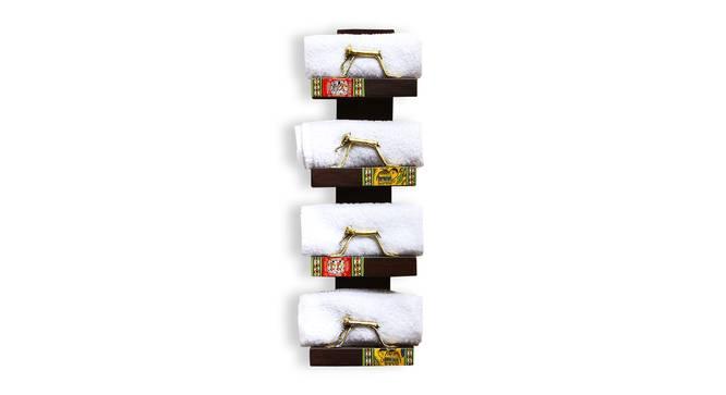 Bishopp Towel Holder (Dark Brown) by Urban Ladder - Front View Design 1 - 318457