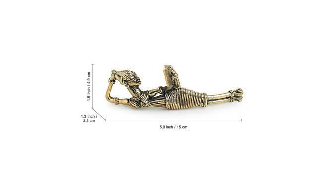 Mahroor Showpiece (Gold) by Urban Ladder - Design 1 Side View - 318592