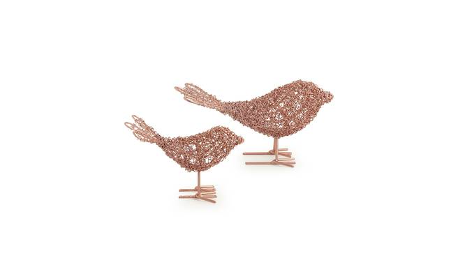 Faaroq Showpiece-Set of 2 (Copper Finish) by Urban Ladder - Front View Design 1 - 318654