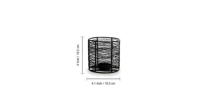 Harnim Tealight Holder (Matt Black) by Urban Ladder - Front View Design 1 - 318888