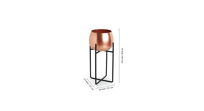 Kanchan Planter-Set of 2 (Copper) by Urban Ladder - Front View Design 1 - 319122
