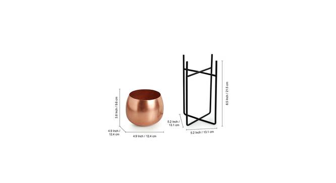 Kanchan Planter-Set of 2 (Copper) by Urban Ladder - Design 1 Side View - 319123
