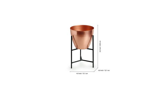 Kanan Planter-Set of 2 (Copper) by Urban Ladder - Design 1 Side View - 319126