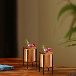Mihir Planter-Set of 4 (Copper) by Urban Ladder - Design 1 - 319133