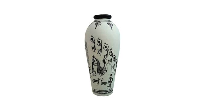 Maaisa Vase (Black, Table Vase Type) by Urban Ladder - Front View Design 1 - 319191