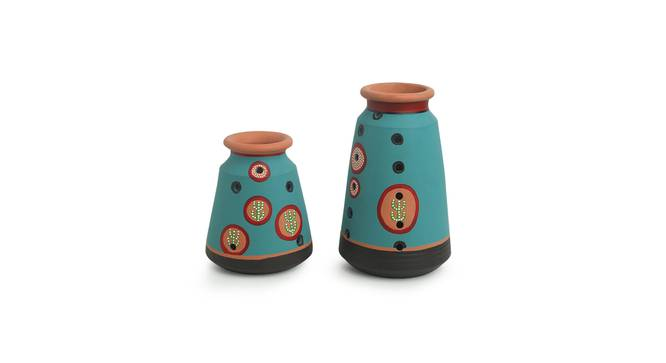 Beula Vase-Set of 2 (Table Vase Type) by Urban Ladder - Front View Design 1 - 319235