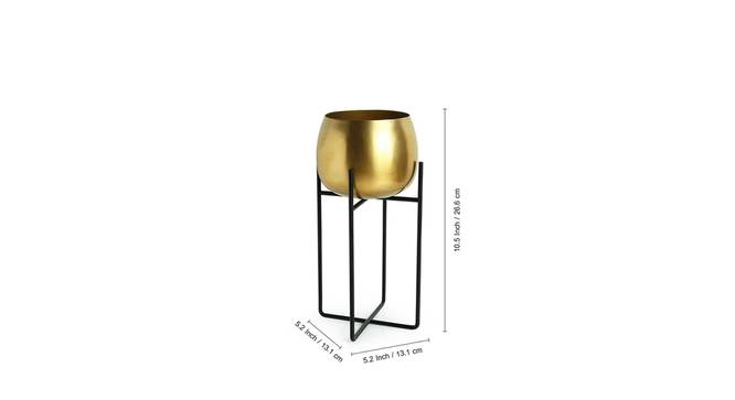 Lopa Planter-Set of 2 (Gold) by Urban Ladder - Design 1 Side View - 319239