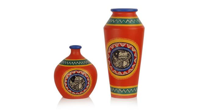 Samaira Vase-Set of 2 (Table Vase Type) by Urban Ladder - Front View Design 1 - 319247