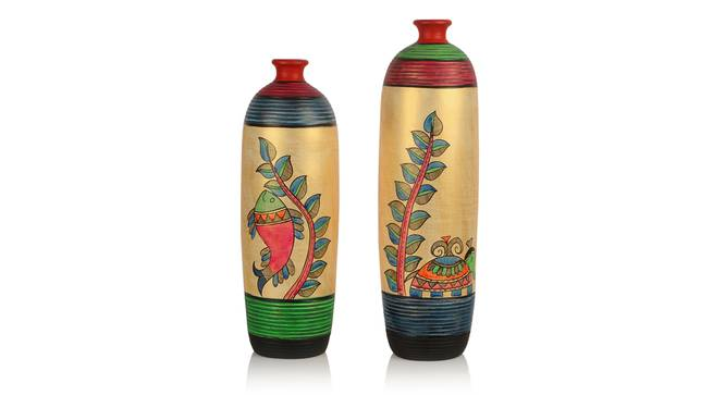 Nila Vase-Set of 2 (Table Vase Type) by Urban Ladder - Front View Design 1 - 319250
