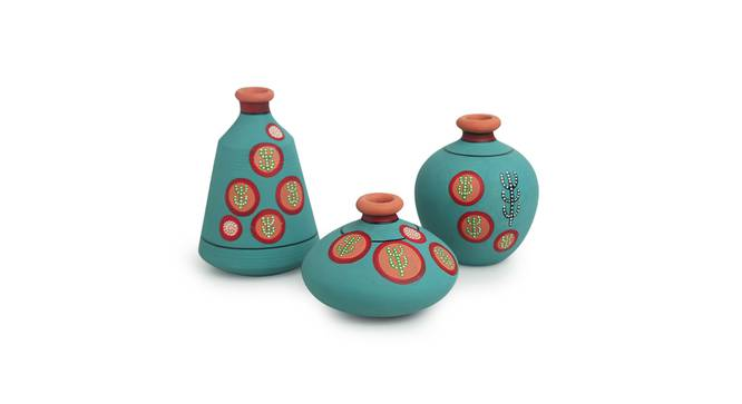 Pahal Vase-Set of 3 (Table Vase Type) by Urban Ladder - Front View Design 1 - 319273
