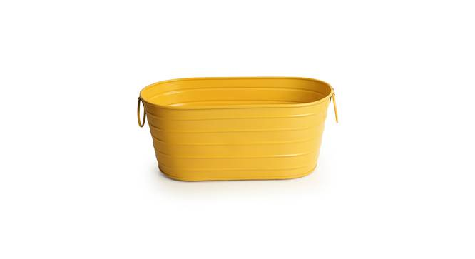 Daivik Planter (Yellow Gloss) by Urban Ladder - Front View Design 1 - 319300