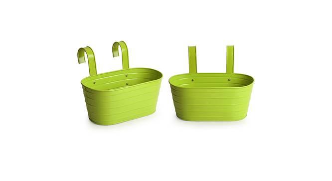 Abhi Planter (Green Gloss) by Urban Ladder - Front View Design 1 - 319328