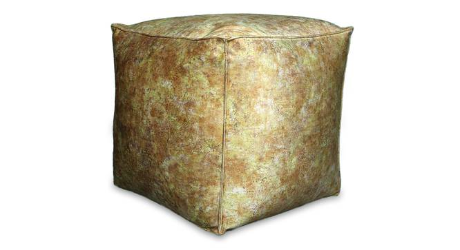 Chevina Pouffe (Yellow) by Urban Ladder - Design 1 Half View - 319523