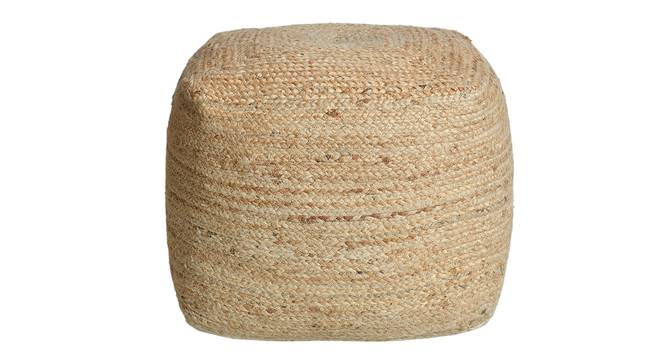 Larca Pouffe (Natural) by Urban Ladder - Design 1 Semi Side View - 319536