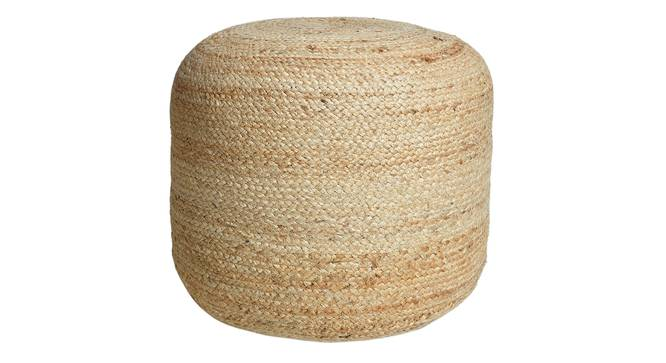 Larca Pouffe (Natural) by Urban Ladder - Design 1 Semi Side View - 319544
