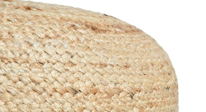 Larca Pouffe (Natural) by Urban Ladder - Design 1 Semi Side View - 319546