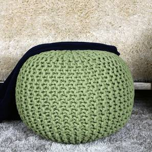 Sacremo Pouffe (Green) by Urban Ladder - Design 1 Semi Side View - 319580