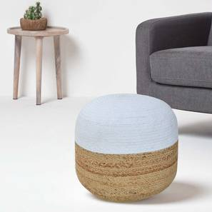 Tulmond Pouffe (Natural) by Urban Ladder - Design 1 Semi Side View - 319604