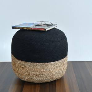 Tulmond Pouffe (Natural) by Urban Ladder - Design 1 Semi Side View - 319609