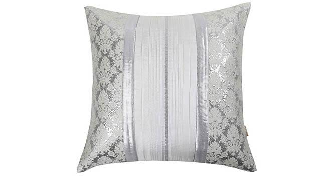 "Reaver Cushion Cover - Set of 2 (Silver, 41 x 41 cm  (16"" X 16"") Cushion Size) by Urban Ladder - Design 1 Details - 319626"