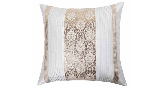 """Riddick Cushion Cover - Set of 2 (41 x 41 cm  (16"""" X 16"""") Cushion Size, Off White) by Urban Ladder - Design 1 Details - 319631"""