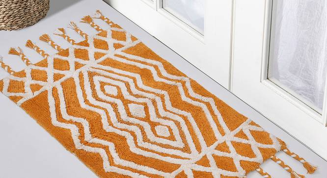 Bacille Bath Mat (Yellow) by Urban Ladder - Front View Design 1 - 319640