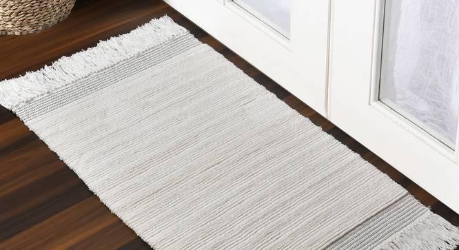 Cecelia Bath Mat (Grey) by Urban Ladder - Front View Design 1 - 319645