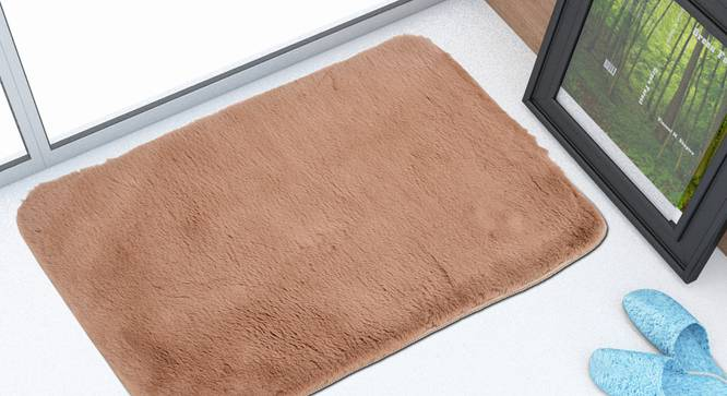 Hivano Bath Mat (Brown) by Urban Ladder - Front View Design 1 - 319739