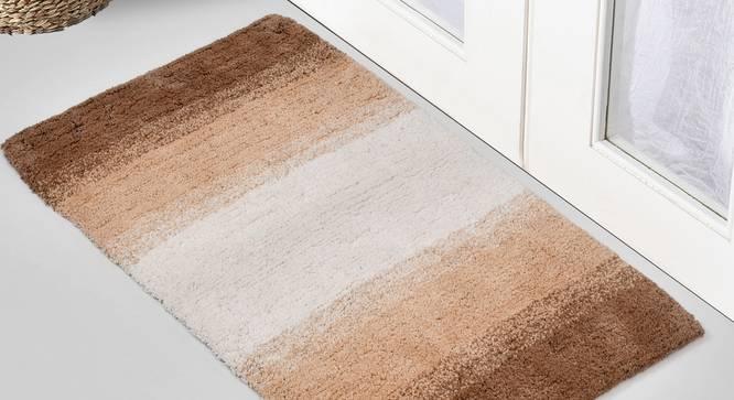 Hulane Bath Mat (Brown) by Urban Ladder - Front View Design 1 - 319755